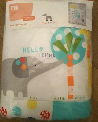 Mothercare Hello Friend Quilt Suitable For A Cot Or A Cot Bed ***BNIP***
