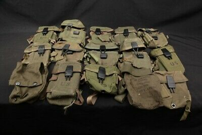 15x 1980's Era US Army Military Uniform Ammo Web Gear EMPTY Magazine Pouch LOT