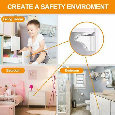 Ousi Baby Child Safety Cabinet Locks  Latches14+2+2 Pack Proofing Adhesive