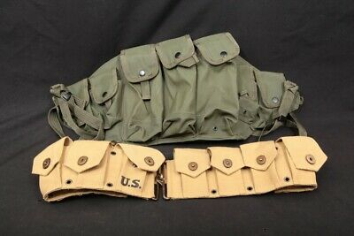 2x Modern Web Field Gear Chest Harness Reproduction Canvas Magazine Ammo Pouch