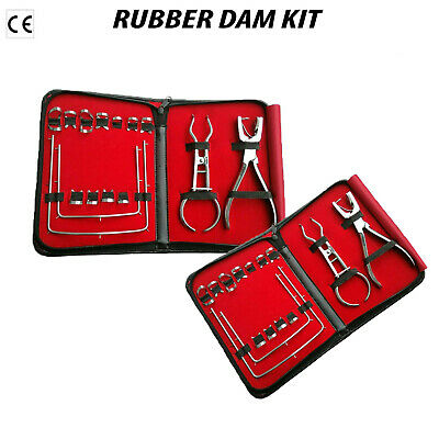 Rubber Dam Starter Kit  With Ainsworth Frame Clamps Dental Instruments DN-592