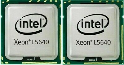 Matched Pair Intel Xeon L5640 (SLBV8) 2.26GHz SIX 6-Core CPU Processor LGA1366