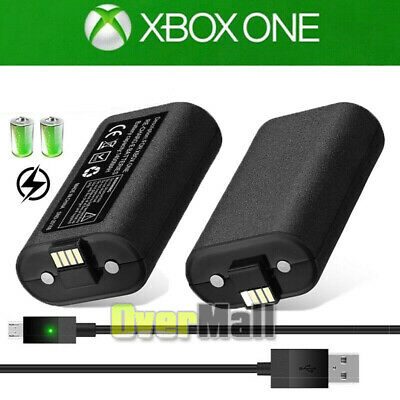 2x Rechargeable Li-ion Battery Pack Play & Charge Kit for Xbox One USA Shipping