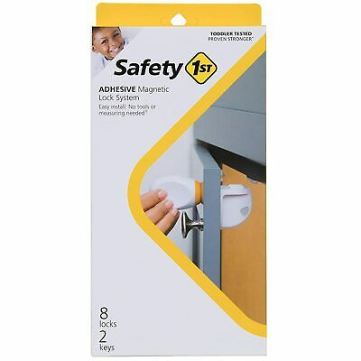 Safety 1st HS294 Adhesive Magnetic Safety Lock System 8 Locks 2 Keys Open Box