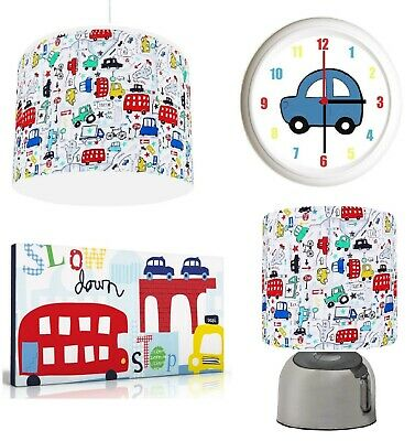 BEEP TRANSPORT CAR  Light Shade , Touch  Lamp, Wall Art, Wall Clock or Bundle
