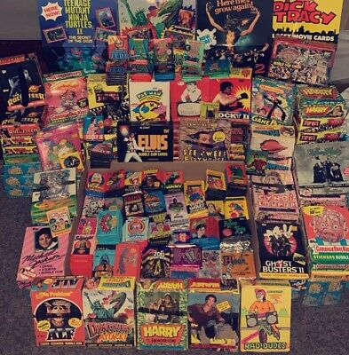 Lot of (5) Vintage Unopened Non Sport Wax Pack - 70s 80s 90s BONUS PACKS & GIFTS