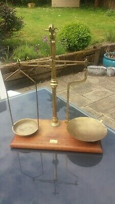 Large set of Antique Brass Beam Scales