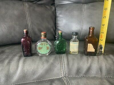 Vintage Glass Small Bottles Lot of 5