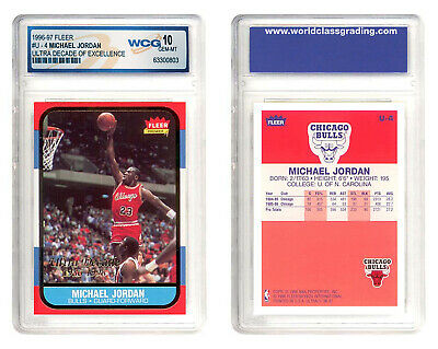 MICHAEL JORDAN 1996-97 Fleer ULTRA DECADE Excellence Rookie Card #U4 GEM MINT 10