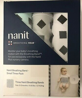 3 Pack Nanit Breathing Bands New! 0-3 months, Multi, Small, Washable, Unisex