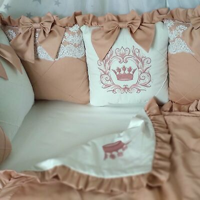 Cot Bumper-Brown-Baby Bedding Set