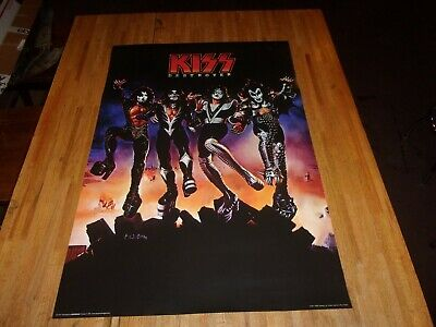 Kiss Destroyer Poster 24 X 36 Out of Print Paul Stanley Gene Simmons Ace Frehley