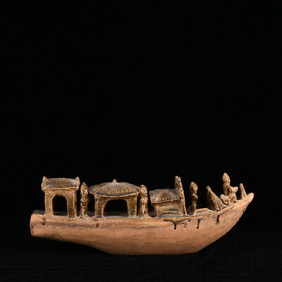 A Rare and LARGE Chinese Antique Northern Song Porcelain Boat with Figures