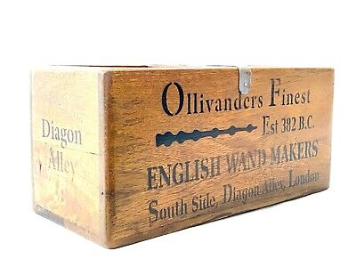 Ollivanders English Wand Makers Rustic Wooden Crate Harry Potter Style