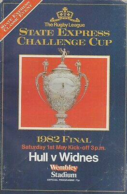Hull v Widnes State Express Cup Final programme 1981-1982 at Wembley Stadium