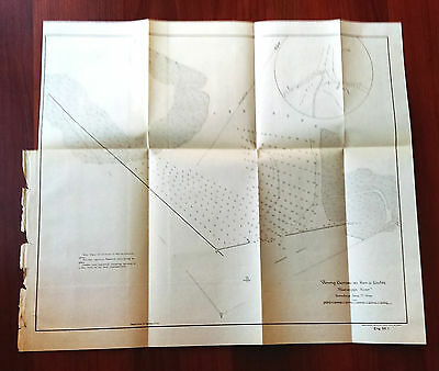 1899 Mississippi River Closing Crevasse in Pass a Loutre Map