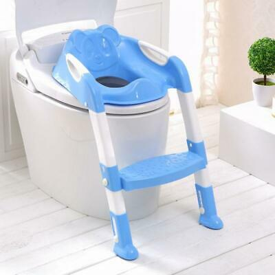 2 Colors Folding Baby Potty Infant Kids Toilet Training Seat with Adjustable Lad