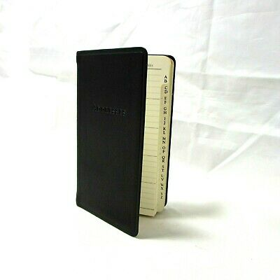 """Address Book 3x5"""" Soft Flexible Leather Cover Graphic Image Personal Pocket Blk"""