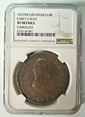 1822 Mexico 8 Reales Iturbide (Certified) KM-304