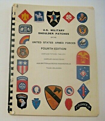1985 U.s. Military Shoulder Patches Reference Guide Book ~ A Must For Collectors