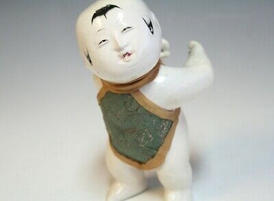 China Old Imperial Palace Doll / Edo Period Toy Japanese Shaped Antique H683