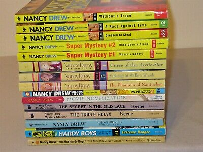 Lot 15 Nancy Drew Girl Detective Diaries Mystery Stories PB Books some vintage