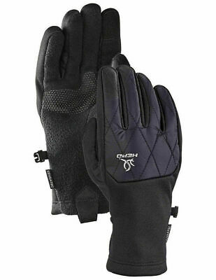 New Head Womens Black Hybrid Sensatec Touchscreen Running Gloves Size M -2 pair