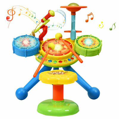 Folding Baby Hook On Seat Portable Table High Chair Infant feeding Seat Blue