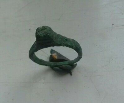 Ancient Byzantine Bronze Ring 1000-1400 Ad