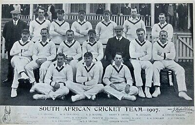 Cricket - Postcard of South African tourists to England  1907