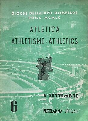 Olympic Games - 1960 Rome Athletics Programme  6 September