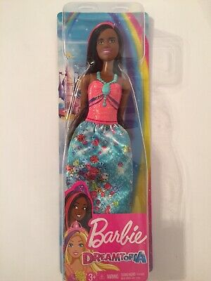 "Barbie DREAMTOPIA PRINCESS 12"" Doll. Pink/Turquoise Evening Gown & Purple Crown"