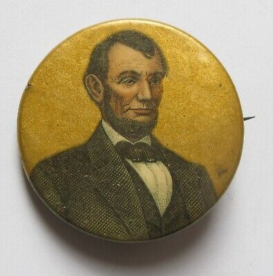 Antique WARD'S TIP TOP BREAD Abraham Lincoln Pin Back Advertising Button;J912