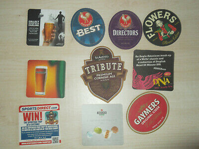 Lot 1 Assorted Mix of 10 Bar Pub Beer Mats Coasters   PARTY PACK