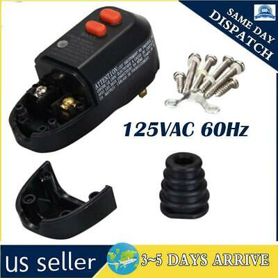 15A GFCI Replacement AC Plug Assembly 2-Prongs with protected reset circuit