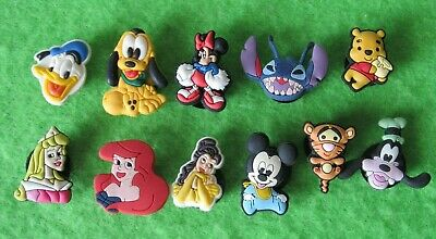 11 Disney Shoe Charms  Jibbitz  Croc Donald Minnie Pluto Mickey Stitch Princess