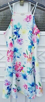 Girls River Island floral summer dress age 11-12.