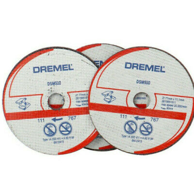 Genuine Dremel DSM510 Metal Plastic Cutting Reinforced Disc wheel for DSM20 x 3