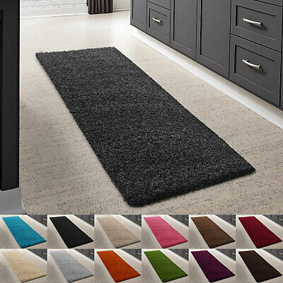 Shimmer Sparkle Thick Shaggy Rug Soft Pile Living Room Rugs Large Hallway Runner