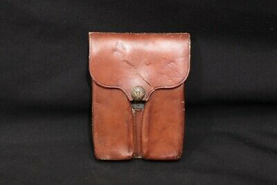 WWI US Army Rock Island Arsenal RIA 1913 .45 ACP 1911 Leather Magazine Pouch WM