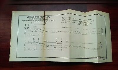 1893 Sketch Diagram Osage Division First Reach Missouri River Dikes
