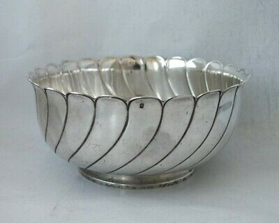 Antique French Solid Silver Bowl c. 1840/ Dia 13 cm/ 194 g