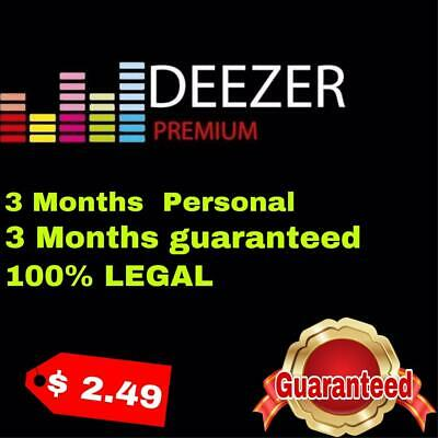 DEEZER PREMIUM personal | 3 months GUARANTEED | 100% LEGAL | 3 months offer