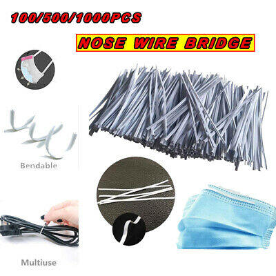 Replace Nose Wire/bar Single Bendable Plastic With Iron Bracket Aluminum Strips