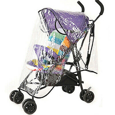 Baby Stroller Pushchair Waterproof Rain Cover Zipper Universal Wind Dust Shield