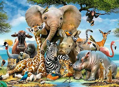 1000 Piece Animal World Jigsaw Puzzles Adult Kids Educational Puzzle Toy Gift