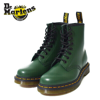 Dr Martens 1460 Smooth Leather Classic 8 Eyelet Unisex Boots Green