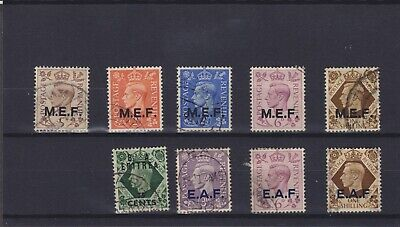 British Occupation of Italian Colonies KGVI Used Collection