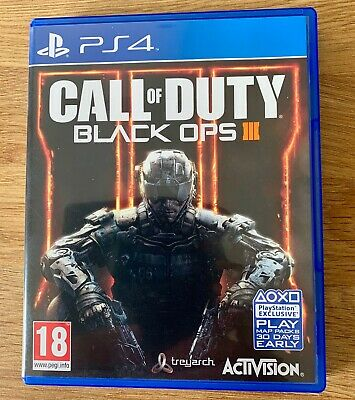 PS4 Playstation Call of Duty Black Ops 3 FREE POSTAGE