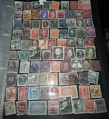 Page of old mixed Deutsch Riech / German stamps mint and used (63)